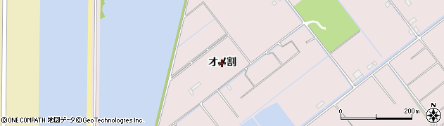 愛知県豊橋市神野新田町(オノ割)周辺の地図
