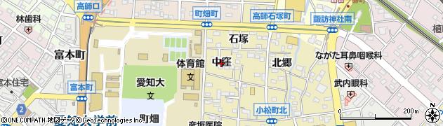 愛知県豊橋市高師石塚町(中窪)周辺の地図