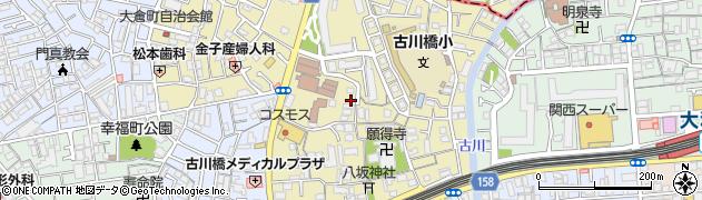 大阪府門真市御堂町周辺の地図
