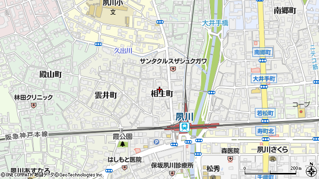 〒662-0063 兵庫県西宮市相生町の地図