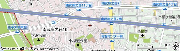 兵庫県尼崎市南武庫之荘11丁目周辺の地図
