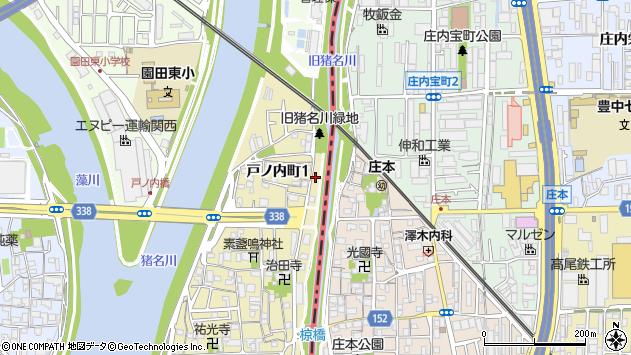 〒661-0961 兵庫県尼崎市戸ノ内町の地図