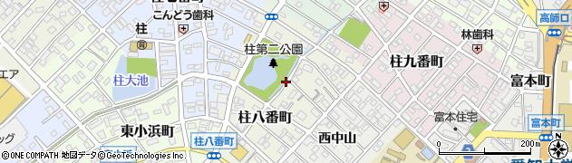 愛知県豊橋市柱八番町周辺の地図