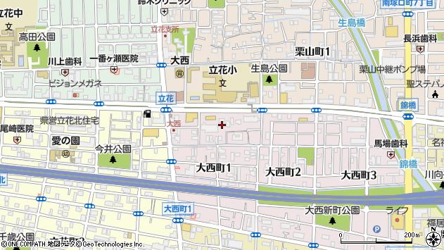 〒661-0023 兵庫県尼崎市大西町の地図