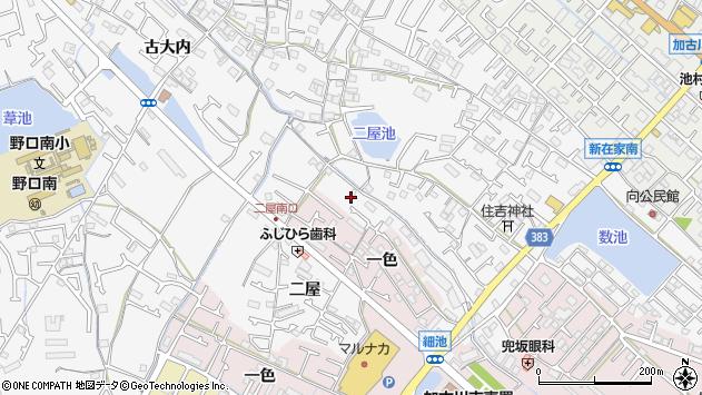 〒675-0013 兵庫県加古川市野口町二屋の地図