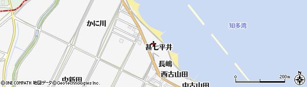 愛知県南知多町(知多郡)豊丘(甚七平井)周辺の地図