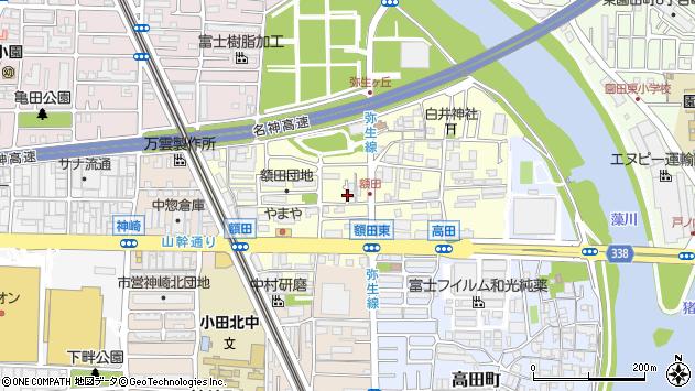 〒661-0962 兵庫県尼崎市額田町の地図