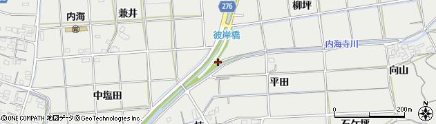 愛知県南知多町(知多郡)内海(岩屋田)周辺の地図