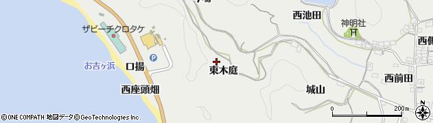 愛知県南知多町(知多郡)内海(東木庭)周辺の地図