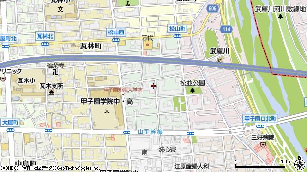 〒663-8103 兵庫県西宮市熊野町の地図