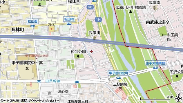 〒663-8102 兵庫県西宮市松並町の地図