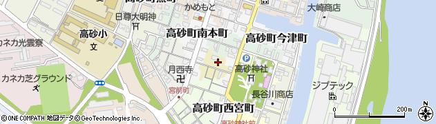 兵庫県高砂市高砂町猟師町周辺の地図