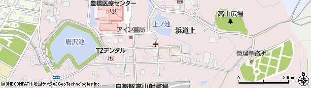 愛知県豊橋市飯村町(高山)周辺の地図