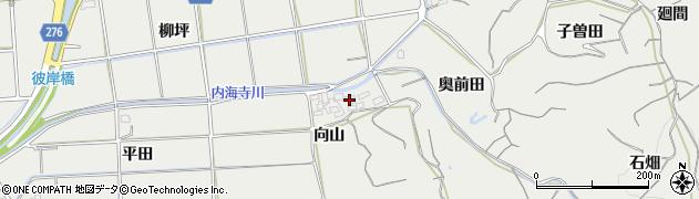 愛知県南知多町(知多郡)内海(向山)周辺の地図