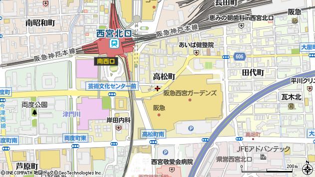 〒663-8204 兵庫県西宮市高松町の地図