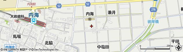 愛知県南知多町(知多郡)内海(兼井)周辺の地図