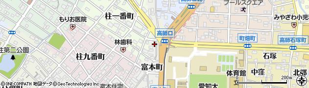 愛知県豊橋市富本町周辺の地図