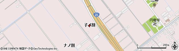 愛知県豊橋市神野新田町(子ノ割)周辺の地図
