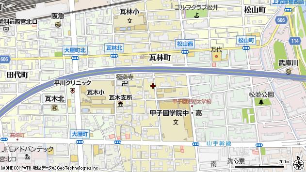 〒663-8107 兵庫県西宮市瓦林町の地図