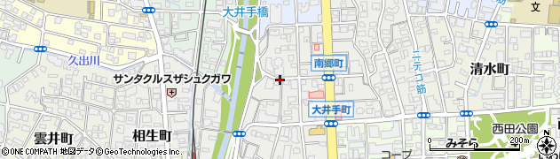 兵庫県西宮市大井手町周辺の地図