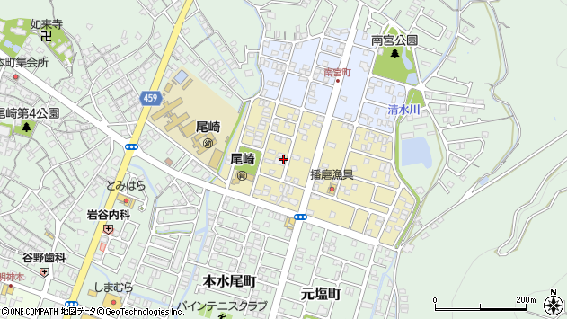 〒678-0212 兵庫県赤穂市清水町の地図