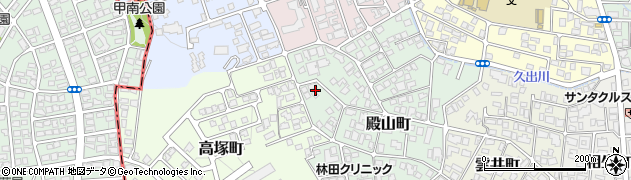 兵庫県西宮市殿山町周辺の地図