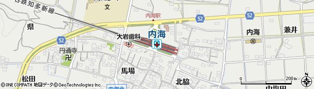 愛知県知多郡南知多町周辺の地図