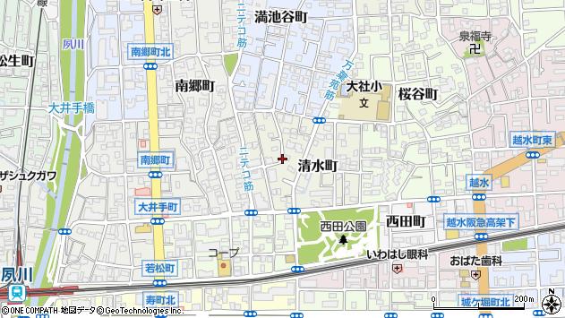 〒662-0033 兵庫県西宮市清水町の地図