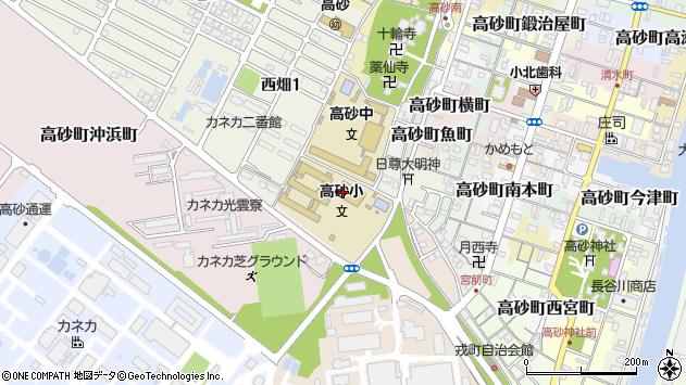 〒676-0056 兵庫県高砂市高砂町大工町の地図