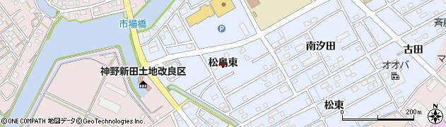 愛知県豊橋市牟呂町(松島東)周辺の地図