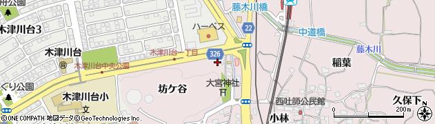 京都府木津川市吐師(坊ケ谷)周辺の地図