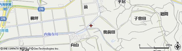 愛知県南知多町(知多郡)内海(奥前田)周辺の地図