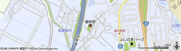 善休寺周辺の地図