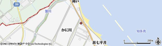 愛知県南知多町(知多郡)豊丘(かに川)周辺の地図