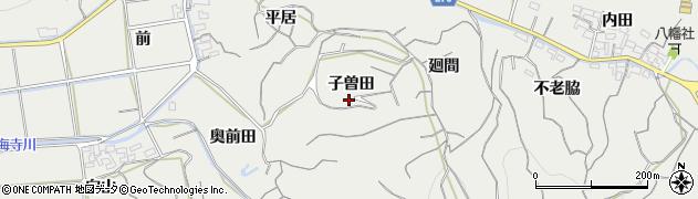 愛知県南知多町(知多郡)内海(子曽田)周辺の地図