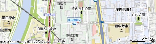 大阪府豊中市庄内宝町周辺の地図