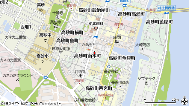 〒676-0047 兵庫県高砂市高砂町南本町の地図
