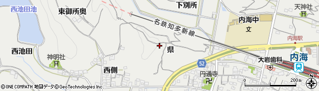 愛知県南知多町(知多郡)内海(県)周辺の地図