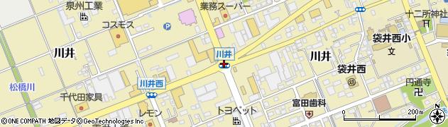 川井周辺の地図