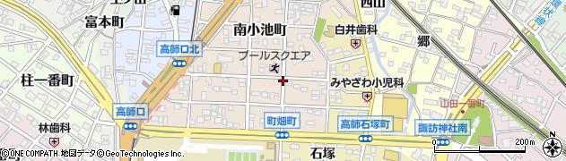 愛知県豊橋市南小池町周辺の地図