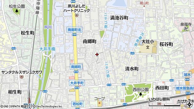 〒662-0038 兵庫県西宮市南郷町の地図