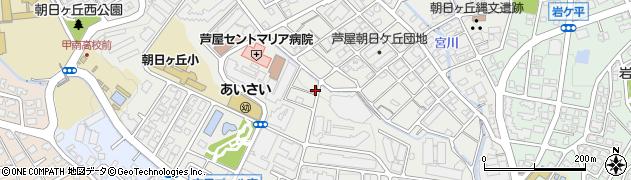 兵庫県芦屋市朝日ケ丘町周辺の地図