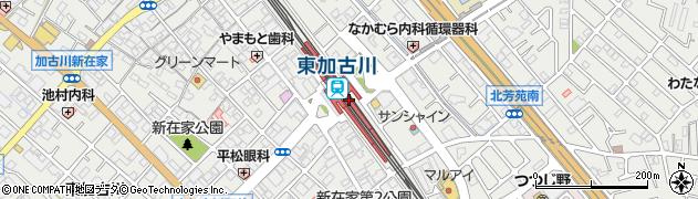 兵庫県加古川市周辺の地図