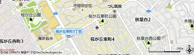 兵庫県神戸市西区桜が丘東町周辺の地図