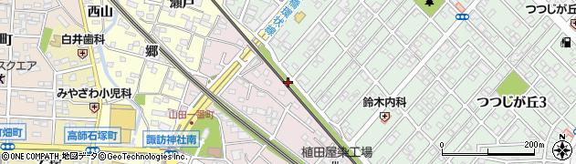 愛知県豊橋市山田町(丸山)周辺の地図