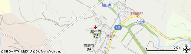 三重県津市美里町日南田周辺の地図