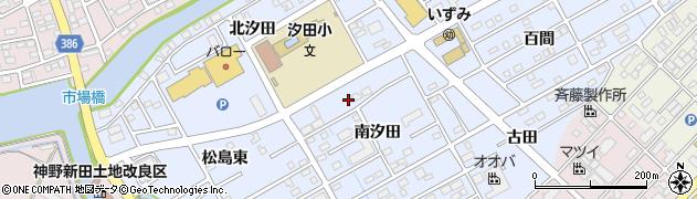 愛知県豊橋市牟呂町(南汐田)周辺の地図