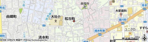 兵庫県西宮市桜谷町周辺の地図