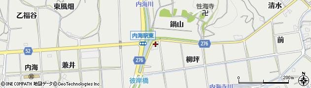 愛知県南知多町(知多郡)内海(柳坪)周辺の地図