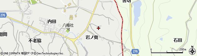 愛知県南知多町(知多郡)内海(岩ノ奥)周辺の地図